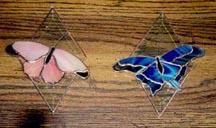 Diamond Bevel Butterfly 4x7 $40