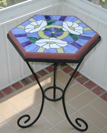 Wrought Iron Stand $50 / Art Deco Stone $115